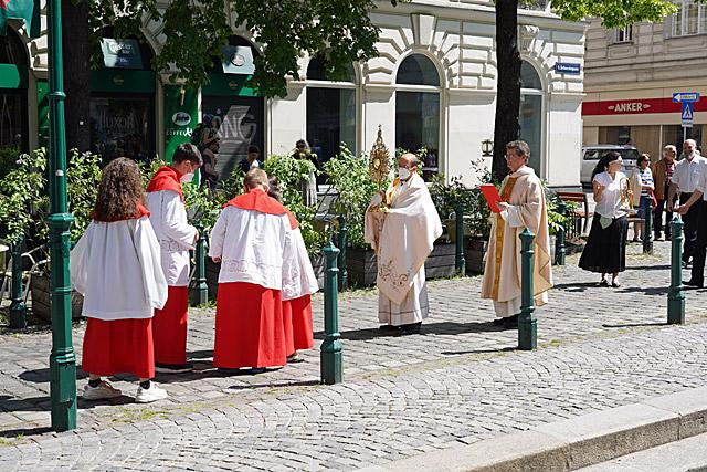 Aufstellung zur Prozession